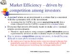 market efficiency driven by competition among investors