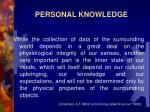 personal knowledge4