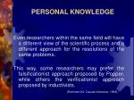 personal knowledge7