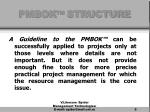 pmbok structure5