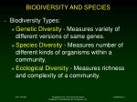 biodiversity and species