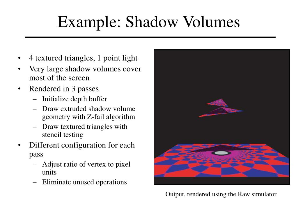 Example: Shadow Volumes