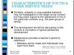 characteristics of youth other service needs25
