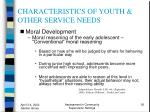 characteristics of youth other service needs36