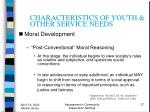 characteristics of youth other service needs37