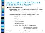 characteristics of youth other service needs39