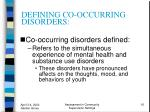 defining co occurring disorders