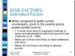 risk factors individual factors57