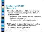 risk factors overview