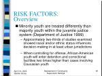 risk factors overview49