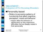 treatment categories of co occurring disorders87