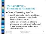 treatment screening assessment74