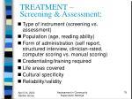 treatment screening assessment79