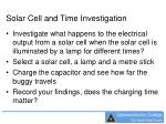 solar cell and time investigation