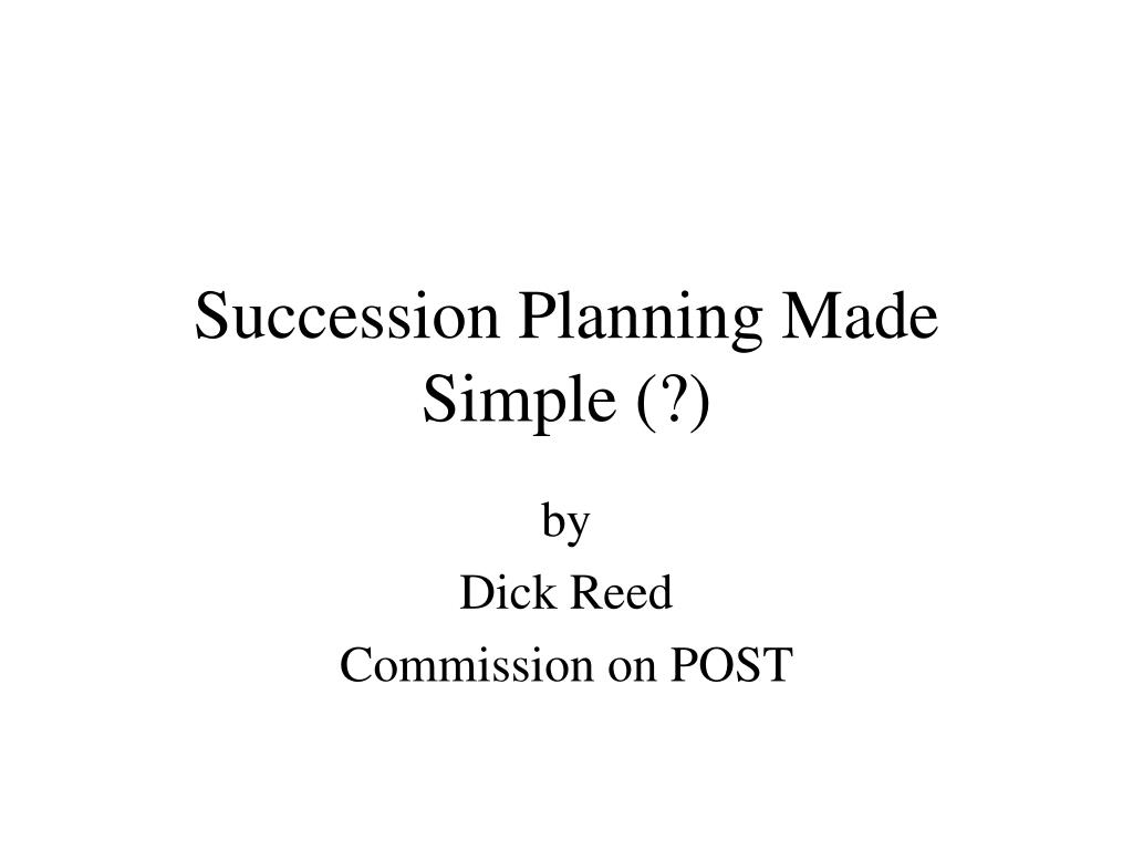 succession planning made simple l.