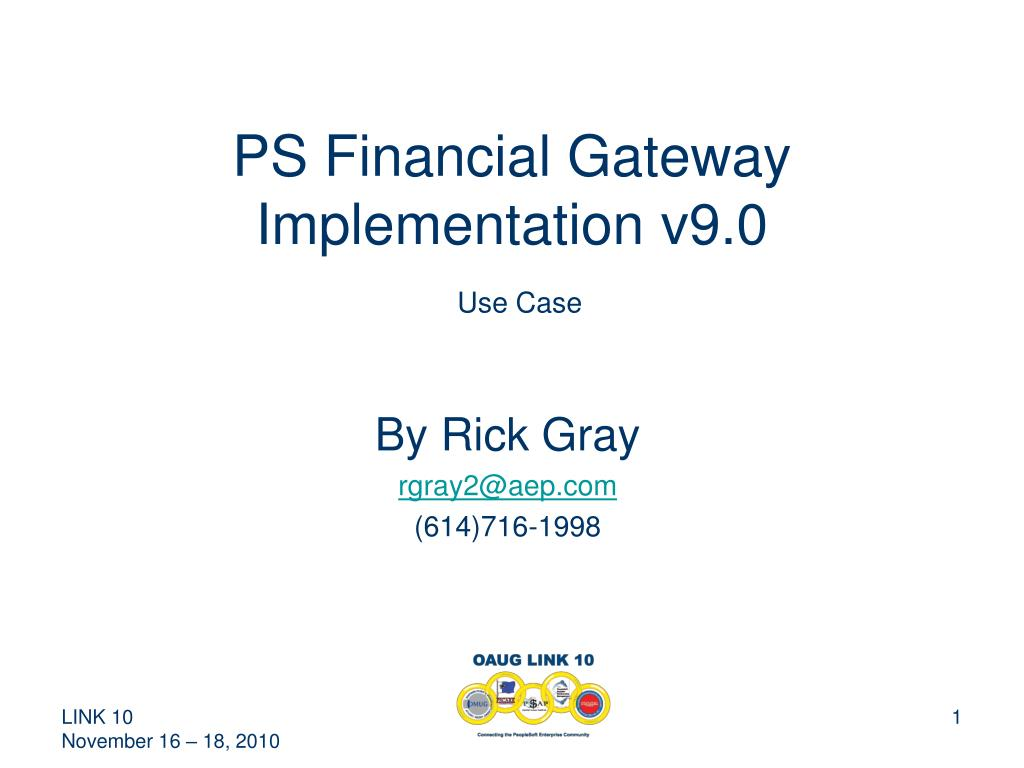 ps financial gateway implementation v9 0 use case l.
