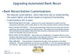 upgrading automated bank recon9