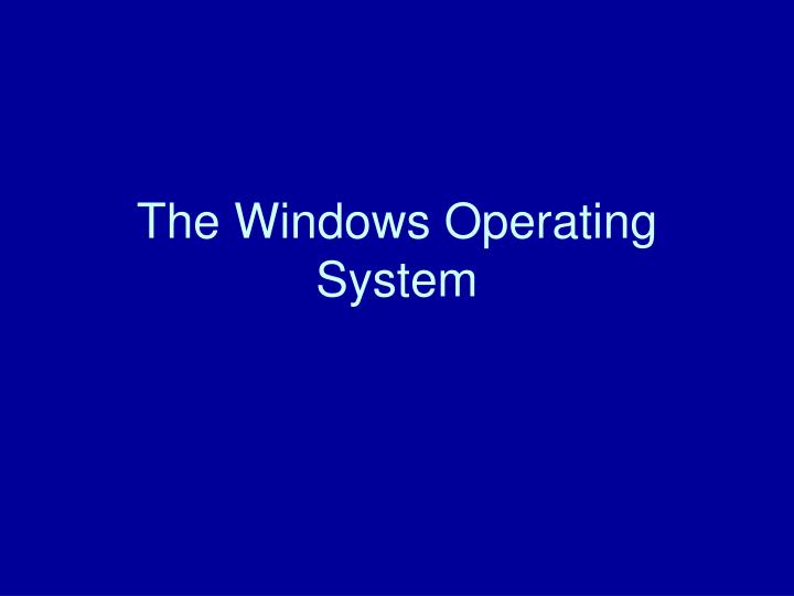 the windows operating system n.