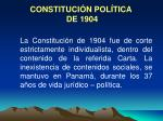 constituci n pol tica de 1904