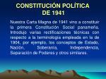 constituci n pol tica de 1941