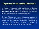 organizaci n del estado paname o