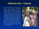 poblaci n afro colonial