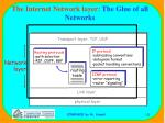 the internet network layer the glue of all networks
