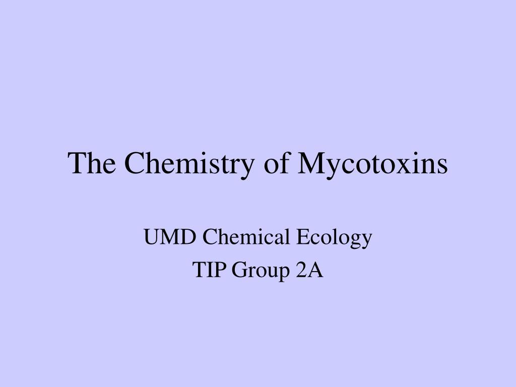 the chemistry of mycotoxins l.