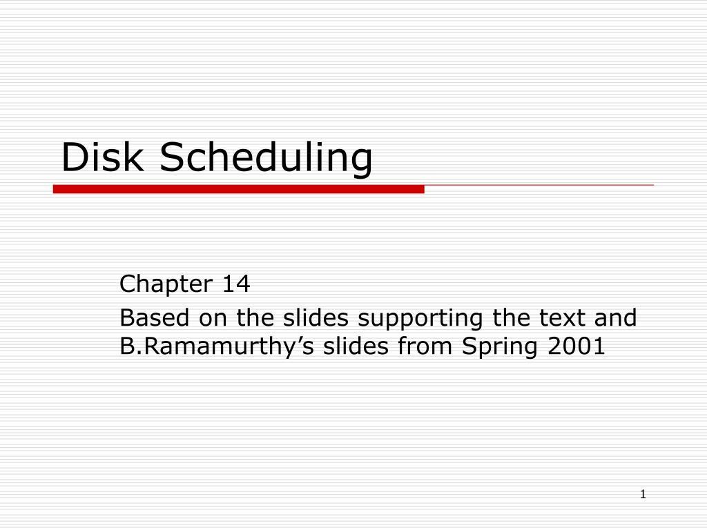 disk scheduling l.