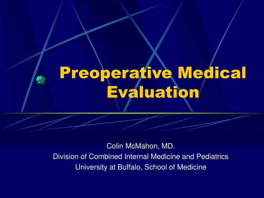 preoperative medical evaluation l.