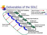 deliverables of the sdlc