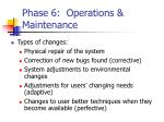 phase 6 operations maintenance
