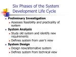 six phases of the system development life cycle