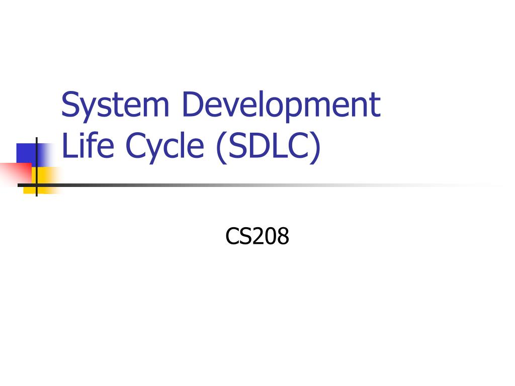 system development life cycle sdlc l.