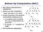 bottom up computation buc
