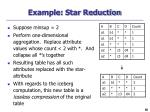 example star reduction