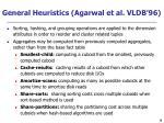 general heuristics agarwal et al vldb 96