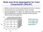 multi way array aggregation for cube computation molap