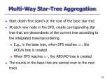 multi way star tree aggregation