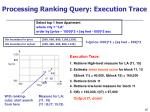 processing ranking query execution trace