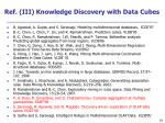 ref iii knowledge discovery with data cubes