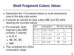 shell fragment cubes ideas