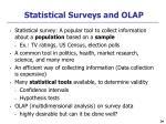 statistical surveys and olap