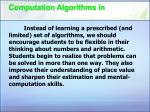 computation algorithms in