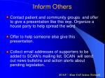 inform others