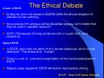 the ethical debate