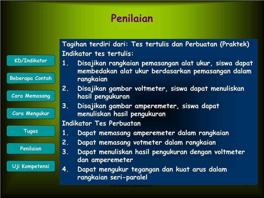 Tagihan terdiri dari: Tes tertulis dan Perbuatan (Praktek)