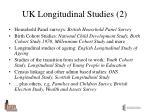 uk longitudinal studies 2