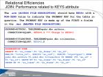 relational efficiencies join performance related to keys attribute