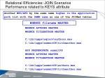 relational efficiencies join scenarios performance related to keys attribute10